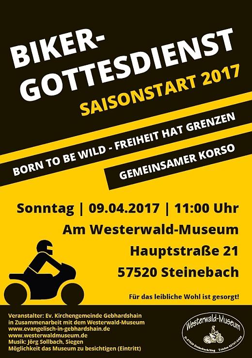 Plakat Bikergottesdienst